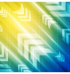 Bright blue and yellow technology background vector
