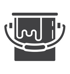 bucket of paint glyph icon build and repair vector image
