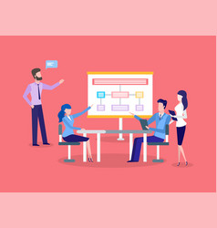 business meeting chart presentation teamwork vector image