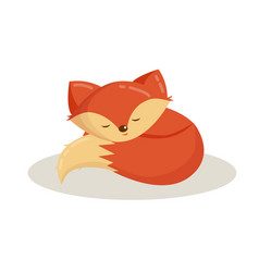 Cartoon animal cute fox vector