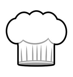 Chef hat uniform isolated icon vector