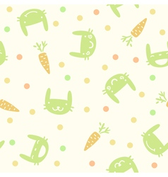 children cute seamless pattern with rabbits and ca vector image