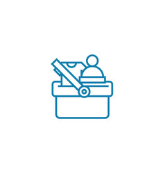 chosen goods linear icon concept chosen goods vector image