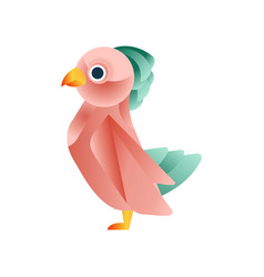 colorful tropical bird stylized geometric animal vector image