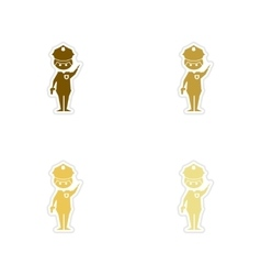 Concept paper stickers on white background male vector