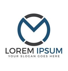 creative letter m logo design vector image