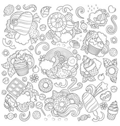 doodle abstract background vector image