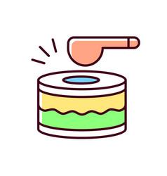 Drums rgb color icon vector