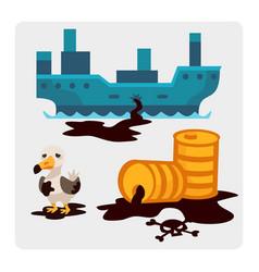 Ecological problems environmental oil pollution vector