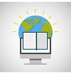 education online global e-book vector image