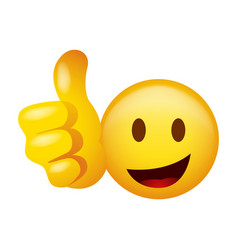 Emoticon doing thumb up vector