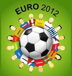 Euro teams vector