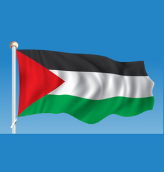 Flag of west bank vector
