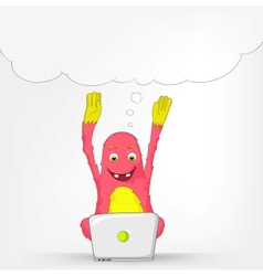 Funny Monster Coder vector image