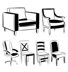 furniture black version vector image