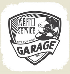 garage prep for paint vector image
