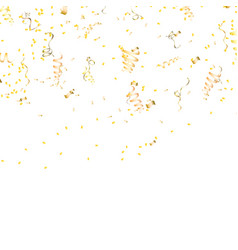 gold confetti celebration bright socks vector image