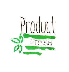 Green Fresh Products Promo Sign vector