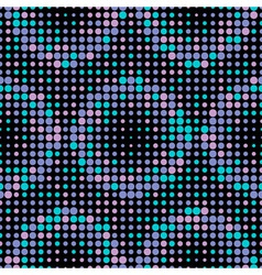 Halftone Circle Tiles Cold Colors Seamless Pattern vector image