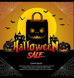 Halloween sale offer design concept vector