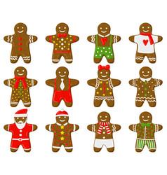 holiday gingerbread man christmas traditional vector image