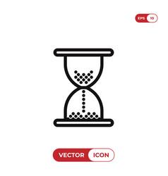 hourglass icon vector image