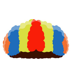isolated clown hair vector image