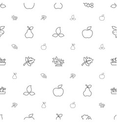 leaf icons pattern seamless white background vector image
