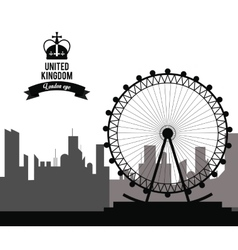 London eye icon united kingdom design vector