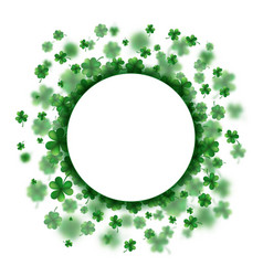 Lucky spring design with shamrock clover round vector