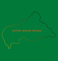 Map of central african republic with flag vector