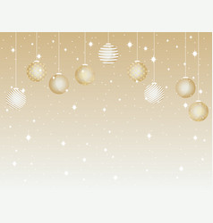 Merry christmas background with christmas balls vector