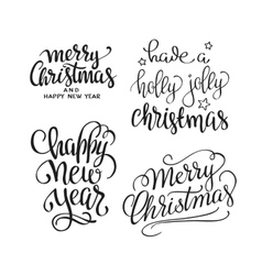 Merry Christmas text Calligraphic Lettering vector