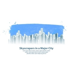 modern city logo design template vector image