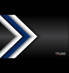 Modern overlayed arrows with finnish colors vector