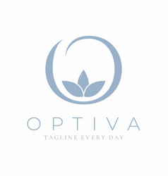 O logo design template for spa and wellness vector
