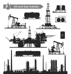 Oil industry set vector