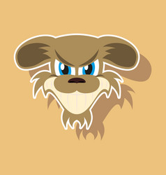 Paper sticker on theme evil animal angry dog vector