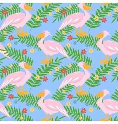 Pelican seamless pattern vector image