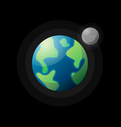 Planet earth with satellite vector