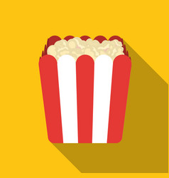 Popcorn icon in flat style isolated on white vector