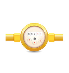 realistic analog water meter sanitary equipment vector image
