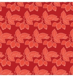 Red Rosehip Drawing Stripes Seamless vector