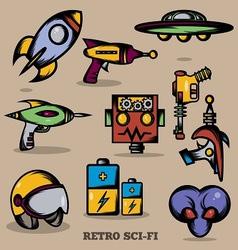 Sci fi Retro vector
