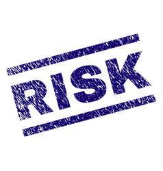 Scratched textured risk stamp seal vector