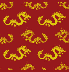 Seamless pattern with dragons vector