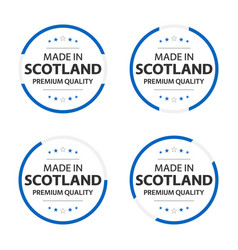 set four scotch icons made in scotland vector image