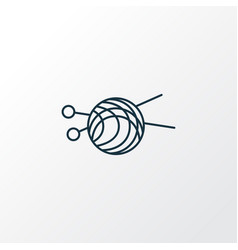 skein of yarn icon line symbol premium quality vector image