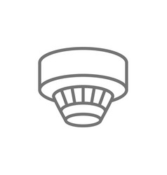 Smoke detector alarm system line icon isolated vector