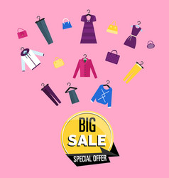 special offer sales proposition on all clothing vector image